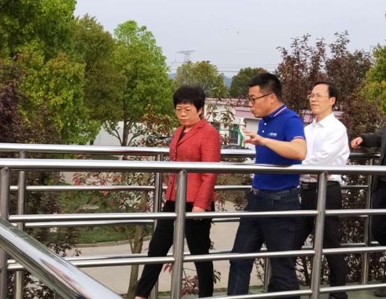 浙江省领导带队重点调研江苏永威施工建设的污水厂项目